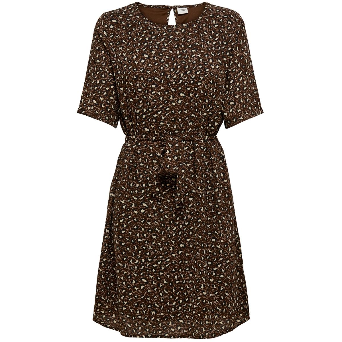 jdyricci 2/4 belt dress wvn 15203378 jacqueline de yong jurk chicory coffee/ leo