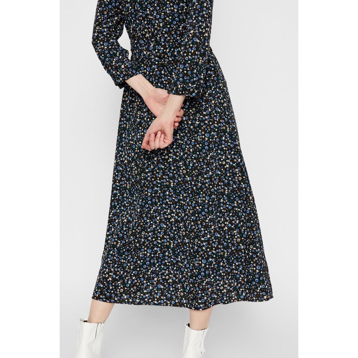 pcapril new 3/4 ankle dress 17102582 pieces jurk black/multi flow