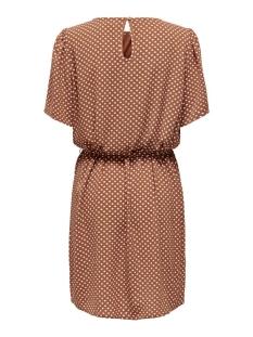 jdyamanda s/s puff dress wvn 15217681 jacqueline de yong jurk argan oil/ ecru dots