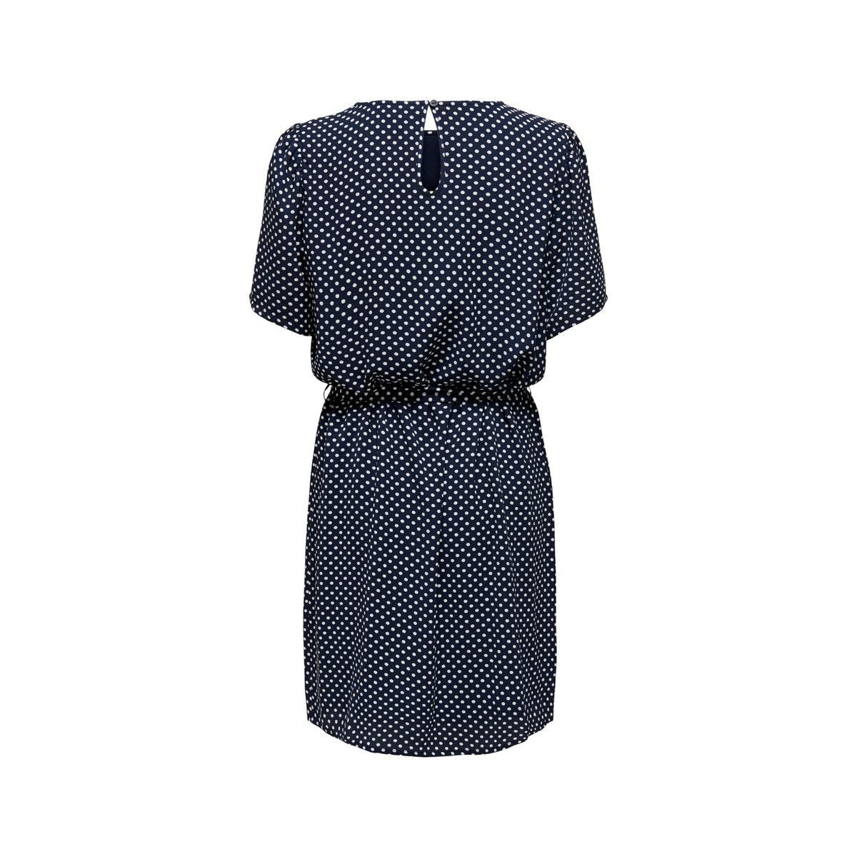 jdyamanda s/s puff dress wvn 15217681 jacqueline de yong jurk sky captain/cloud danc