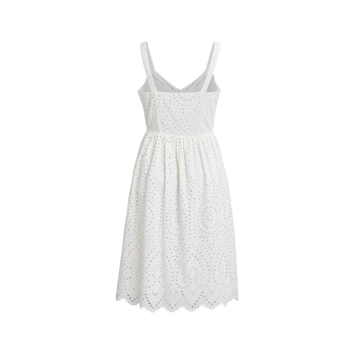vicamelina midi s/l dress 14058039 vila jurk snow white