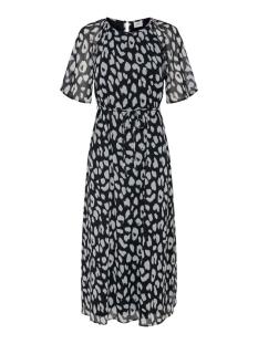 jdysally 2/4 mid calf dress wvn exp 15217485 jacqueline de yong jurk black/leo