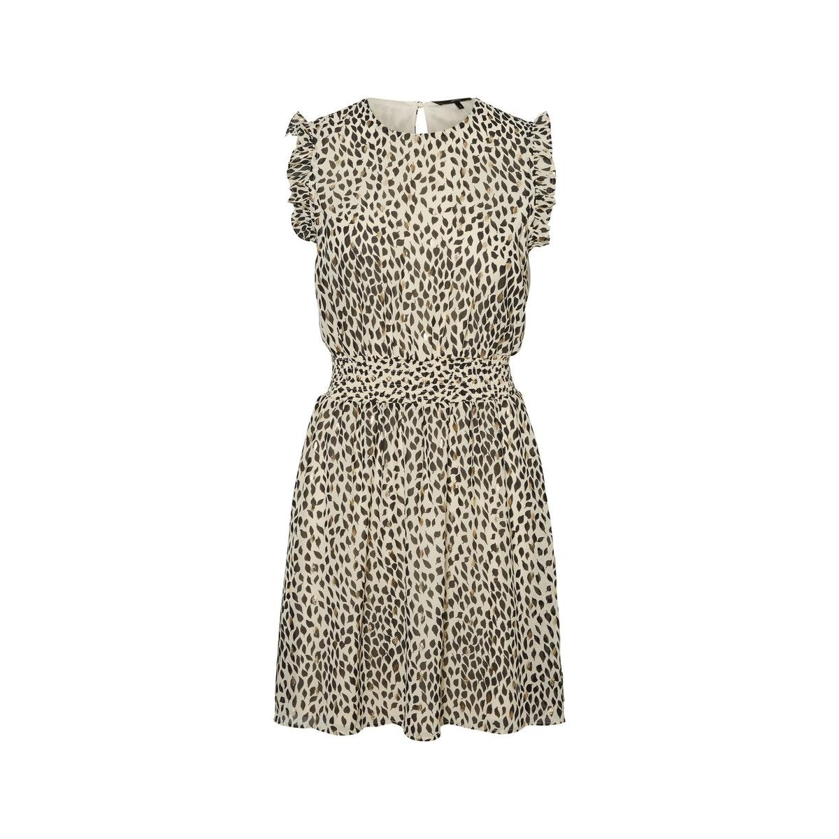 vmpenny s/l short dress wvn 10230691 vero moda jurk birch/penny