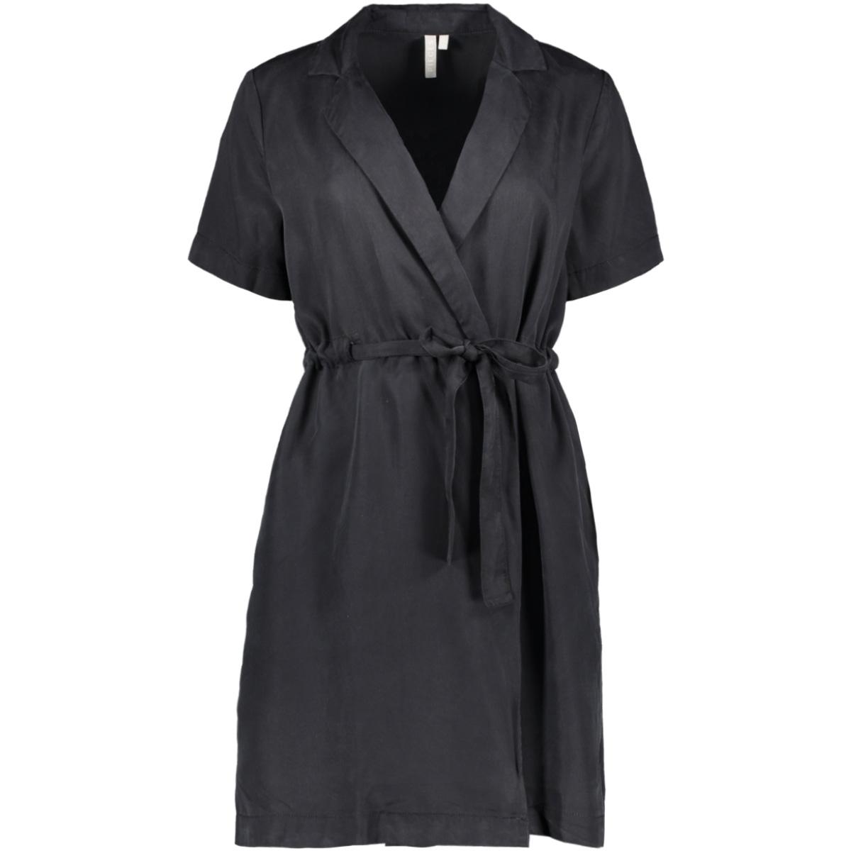 pcwhy ss wrap lyocell dress-bi bc 17102983 pieces jurk black