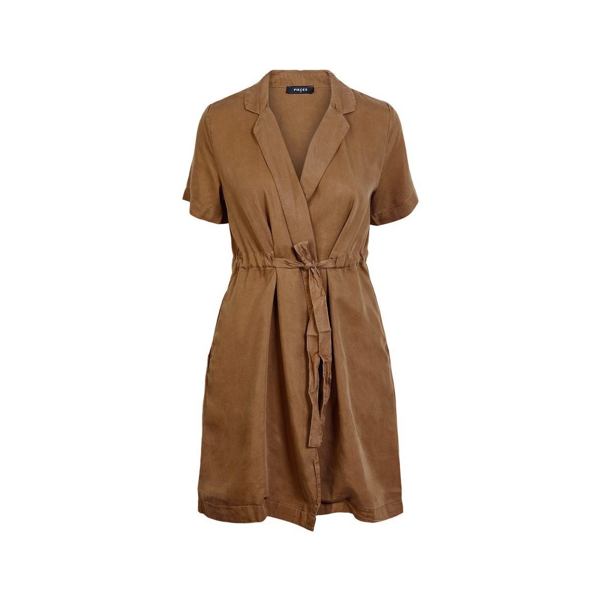 pcwhy ss wrap lyocell dress-bi bc 17102983 pieces jurk kangaroo
