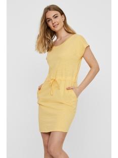 Vero Moda Jurk VMAPRIL SS SHORT DRESS GA COLOR 10213298 Banana Cream/Stripes