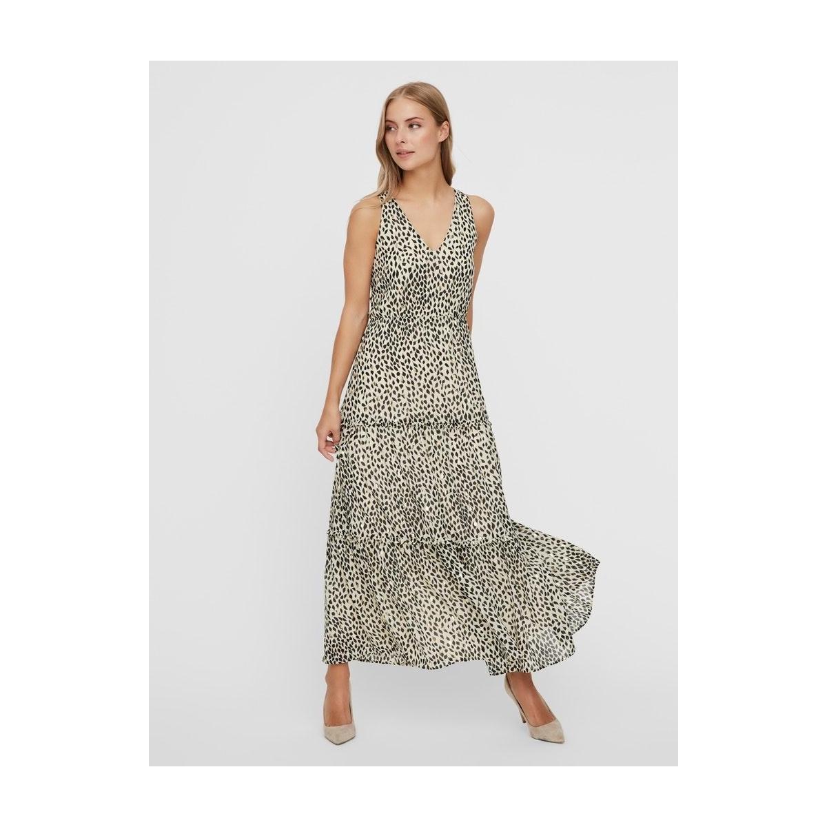 vmpenny s/l ankle dress wvn 10230682 vero moda jurk birch/penny