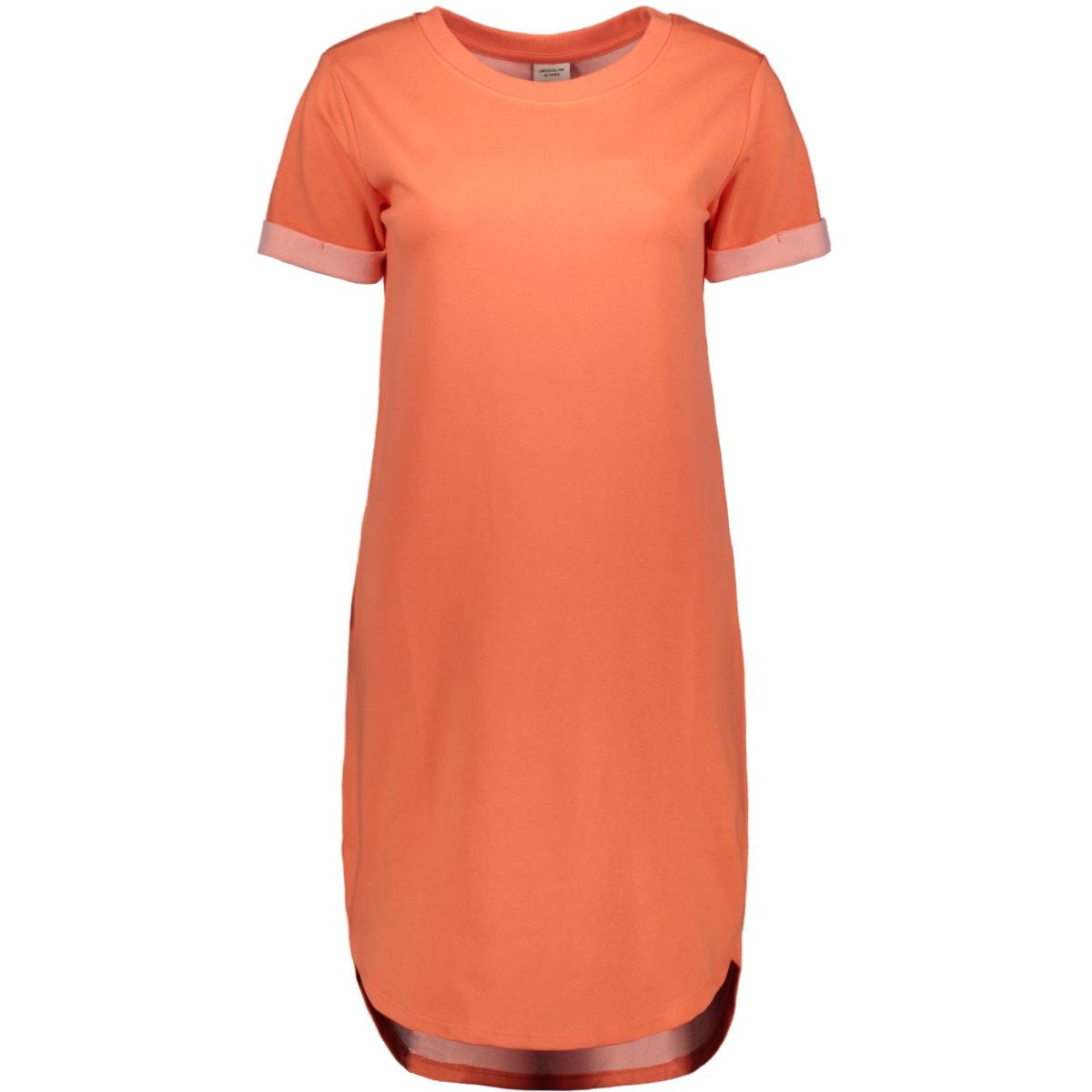 jdyivy life s/s dress jrs noos 15174793 jacqueline de yong jurk living coral