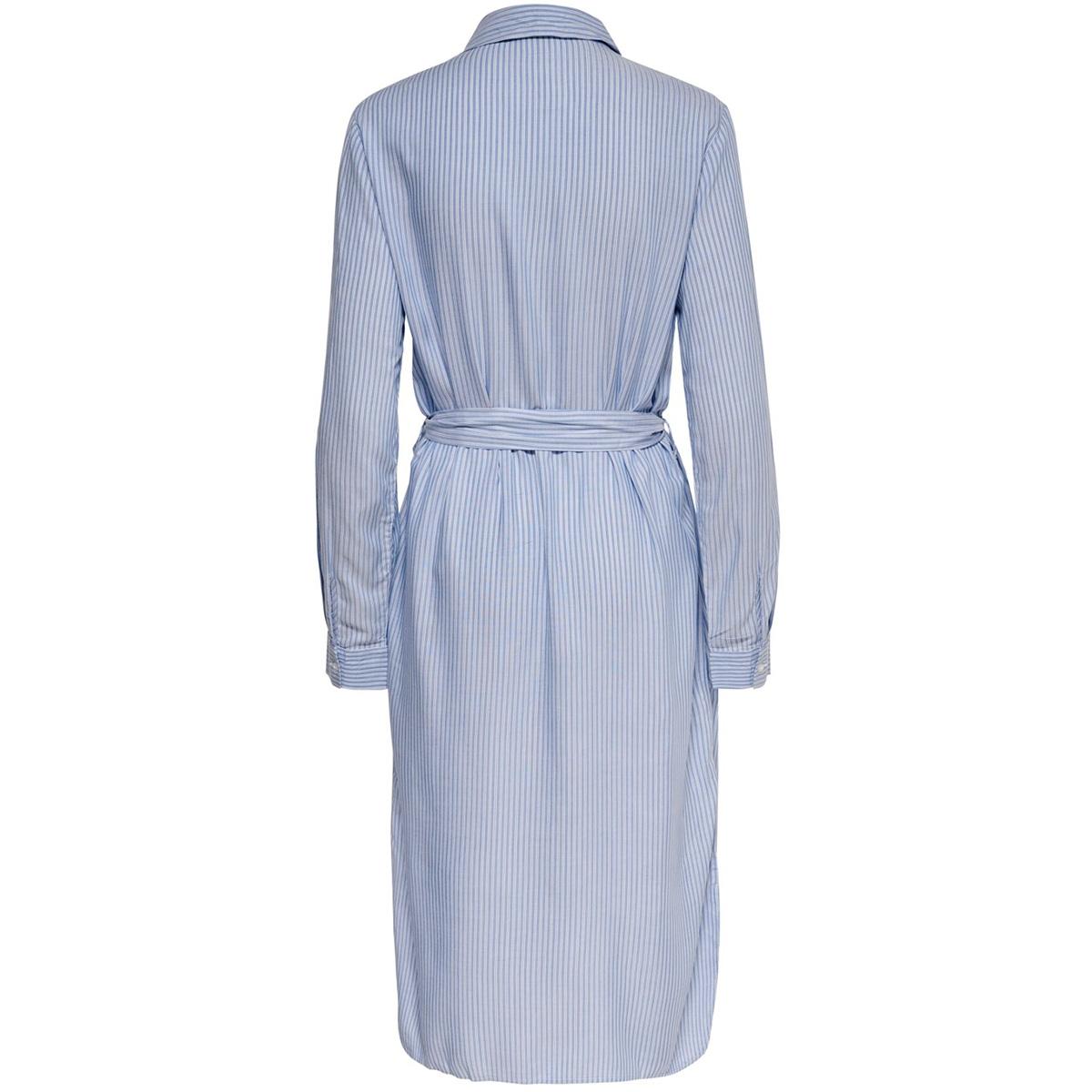 jdytom l/s shirt dress wvn 15204671 jacqueline de yong jurk chambray blue/bright white