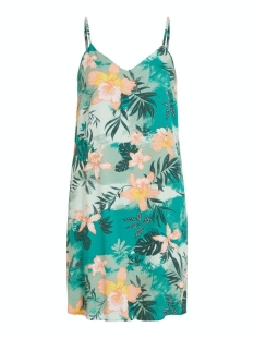 visuvitatropicala s/l dress/su 14057587 vila jurk ultramarine green/tropicala