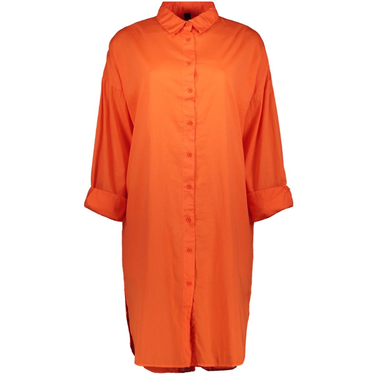 shirt dress 20 400 0202 10 days jurk royal orange