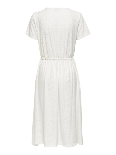 jdyfatinka s/s  v-neck belt dress jrs 15204467 jacqueline de yong jurk cloud dancer