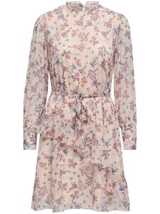 Jacqueline de Yong Jurk JDYKIPPA L/S FRILL DRESS WVN 15200180 Sandshell/FLOWERS