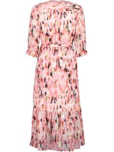 meerkleurige jurk met ruffles q00085 garcia jurk 7612 burnt ochre