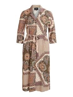 objsun 3/4 long dress a q 23033453 object jurk burnt olive/scarf