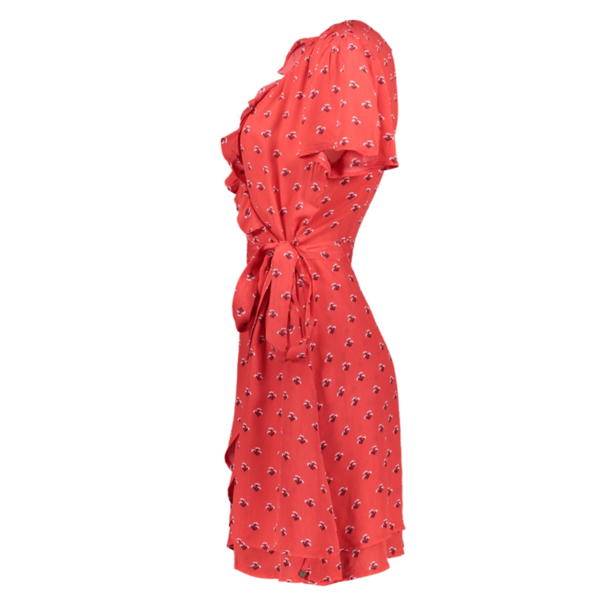 summer wrap dress w8010287a superdry jurk red ditsy