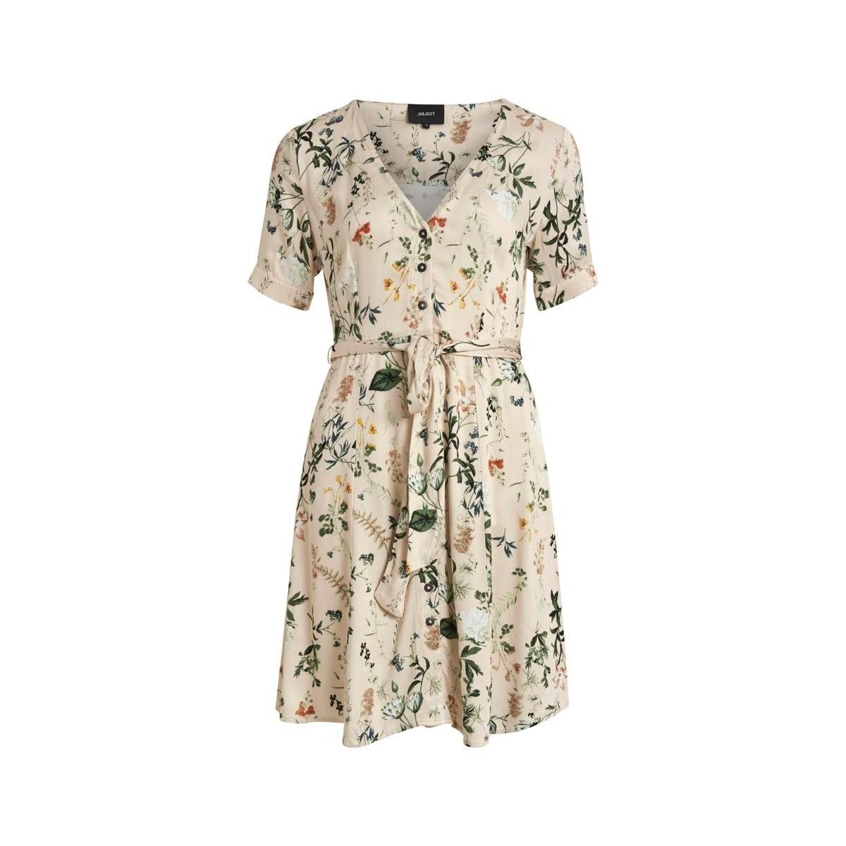 objalba s/s short dress 109 23032902 object jurk ssndshell/multi