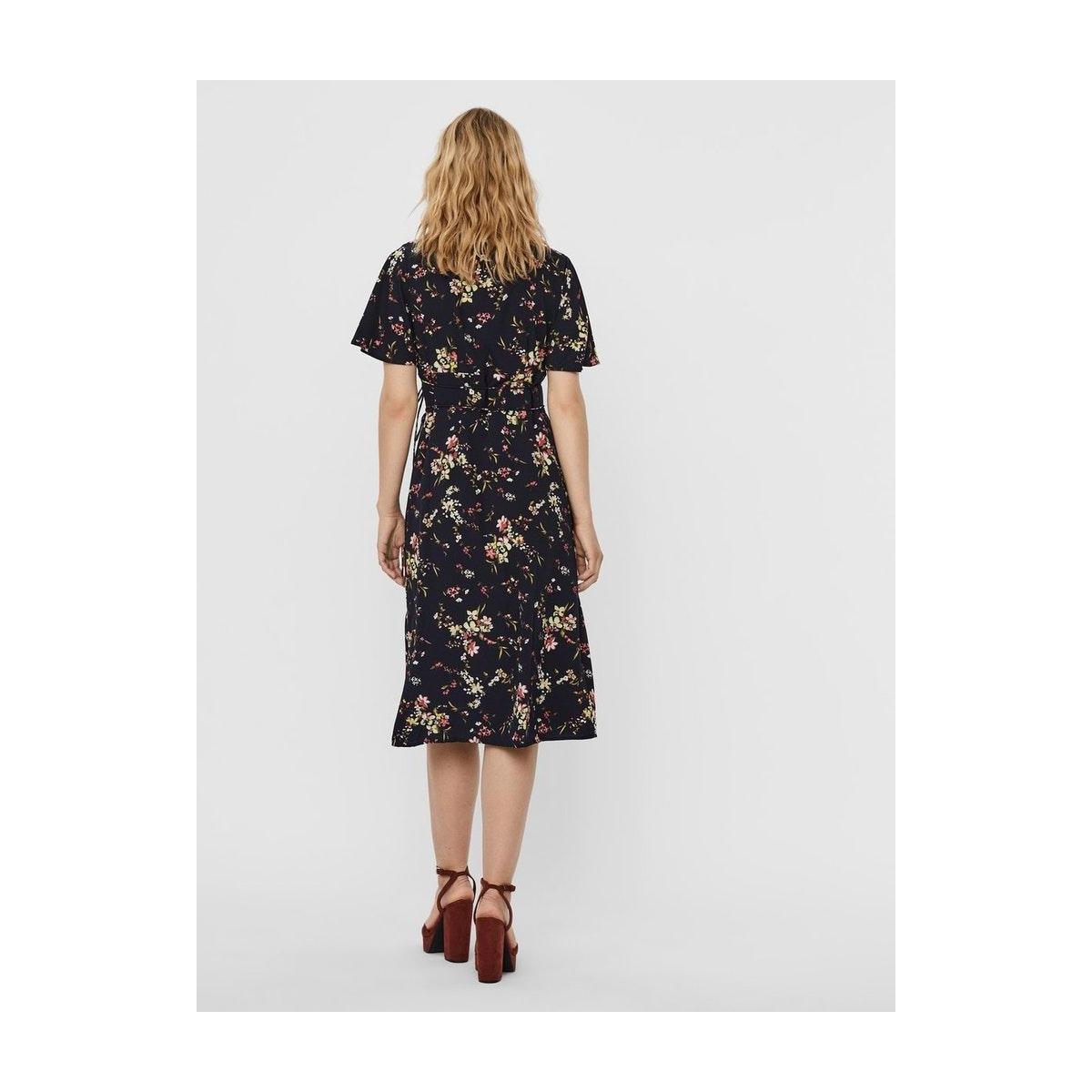 vmkissey ss blk dress wvn ga 10228338 vero moda jurk night sky/ kissey