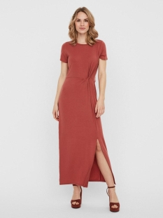 Vero Moda Jurk VMAVA LULU SS ANCLE DRESS COLOR 10230352 MARSALA