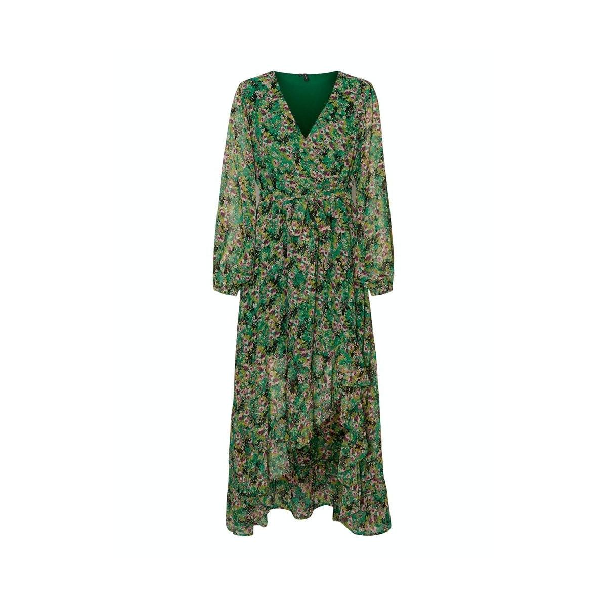 vmanneline l/s frill ancle dress sb 10233866 vero moda jurk black/anneline