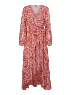 vmanneline l/s frill ancle dress sb 10233866 vero moda jurk sea pink/anneline