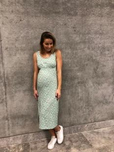 Mama-Licious Positie jurk MLNOMIE S/L JERSEY MIDI DRESS A. 20011700 Ocean Wave