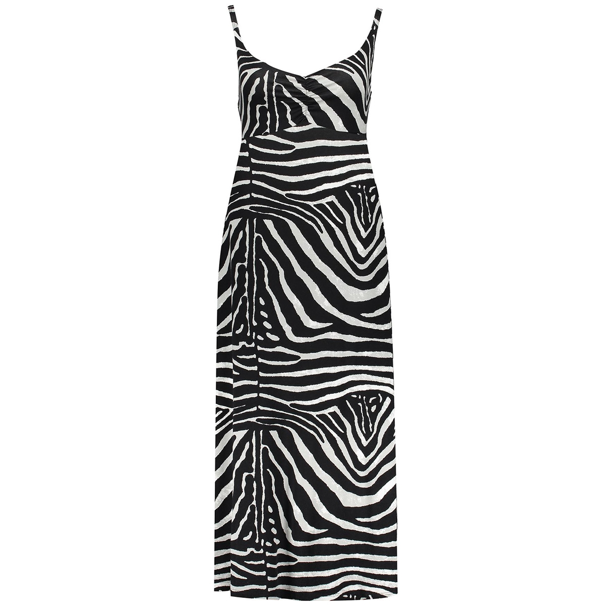 dress aop noelle 07361 60 geisha jurk black/grey zebra