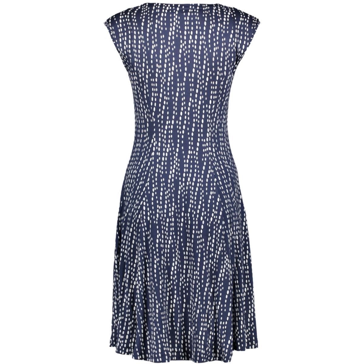 gestipte jurk met watervalhals 23001727 sandwich jurk 40115
