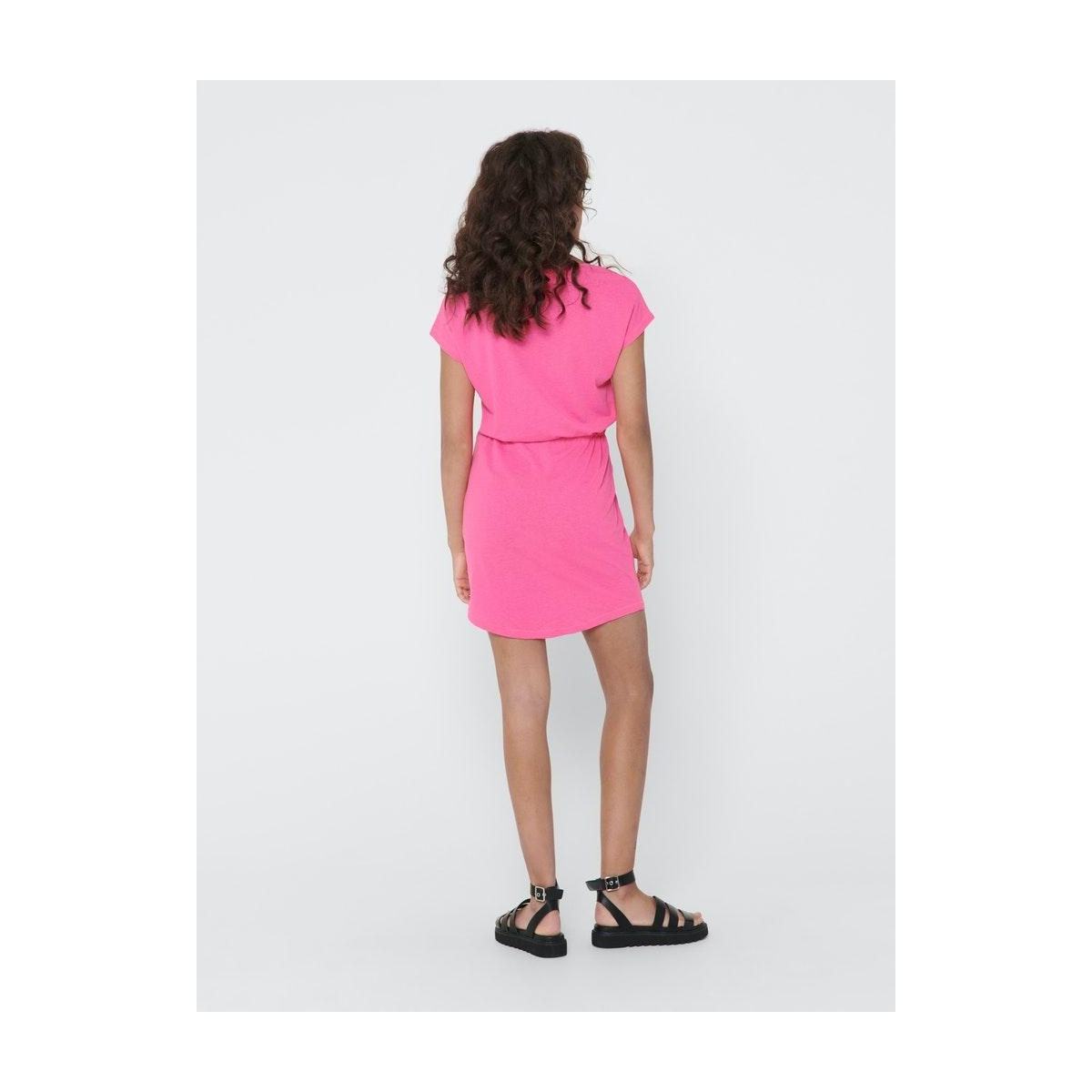 onlmay life s/s dress noos 15153021 only jurk neon pink