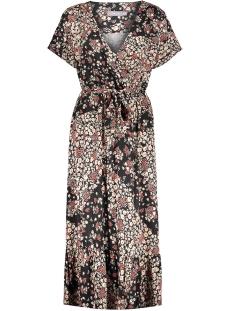 dress wrap aop 07401 60 geisha jurk black/red combi