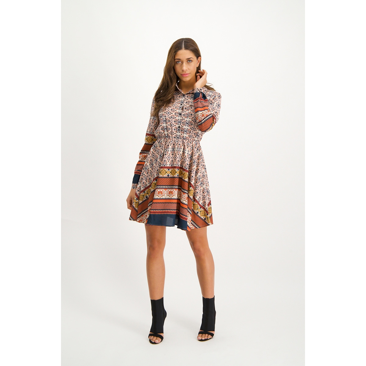 mg13 1 dress jamila lofty manner jurk peach