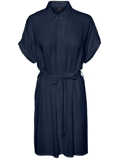 Vero Moda Jurk VMSIMPLY EASY S/S SHIRT DRESS WVN G 10227837 Navy Blazer