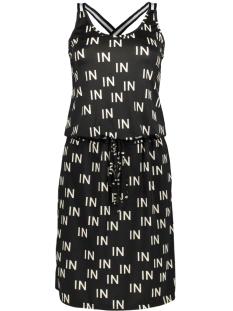 IZ NAIZ Jurk DRESS  3689 IN PRINT/BLACK