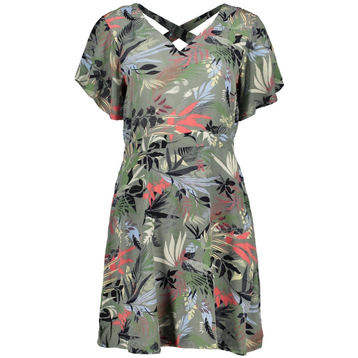 vmpheobe ss short dress wvn ga 10230630 vero moda jurk laurel wreath/pheobe