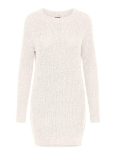 Noisy may Jurk NMSIESTA L/S O-NECK KNIT DRESS BG 27002835 Sugar Swizzle