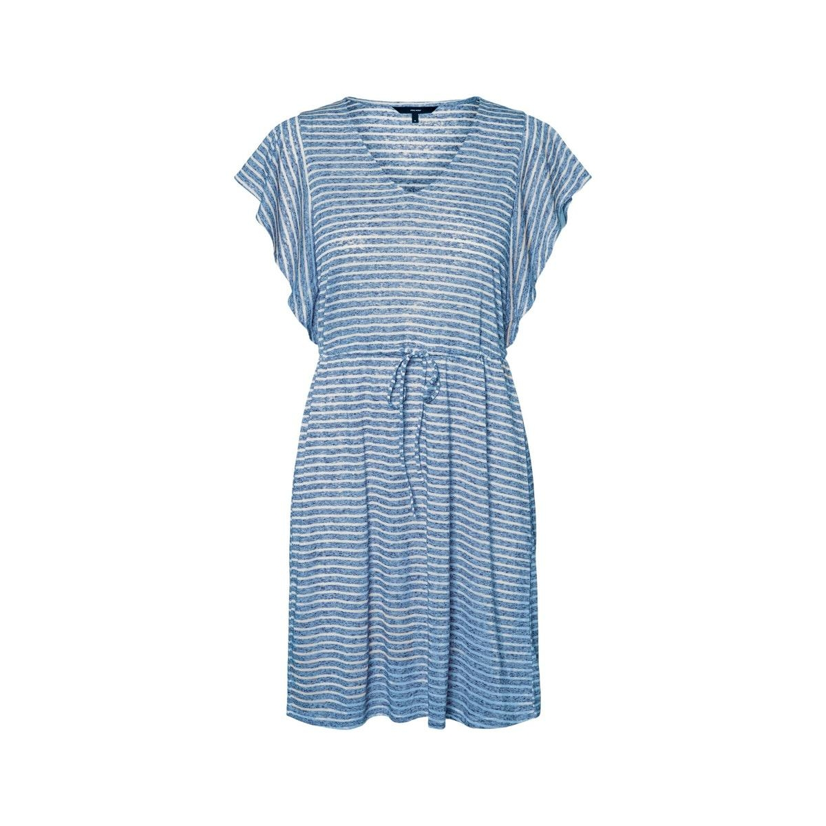 vmrakel short dress jrs 10230826 vero moda jurk birch/placid blu