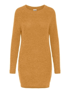 Noisy may Jurk NMSIESTA L/S O-NECK KNIT DRESS BG 27002835 Inca Gold