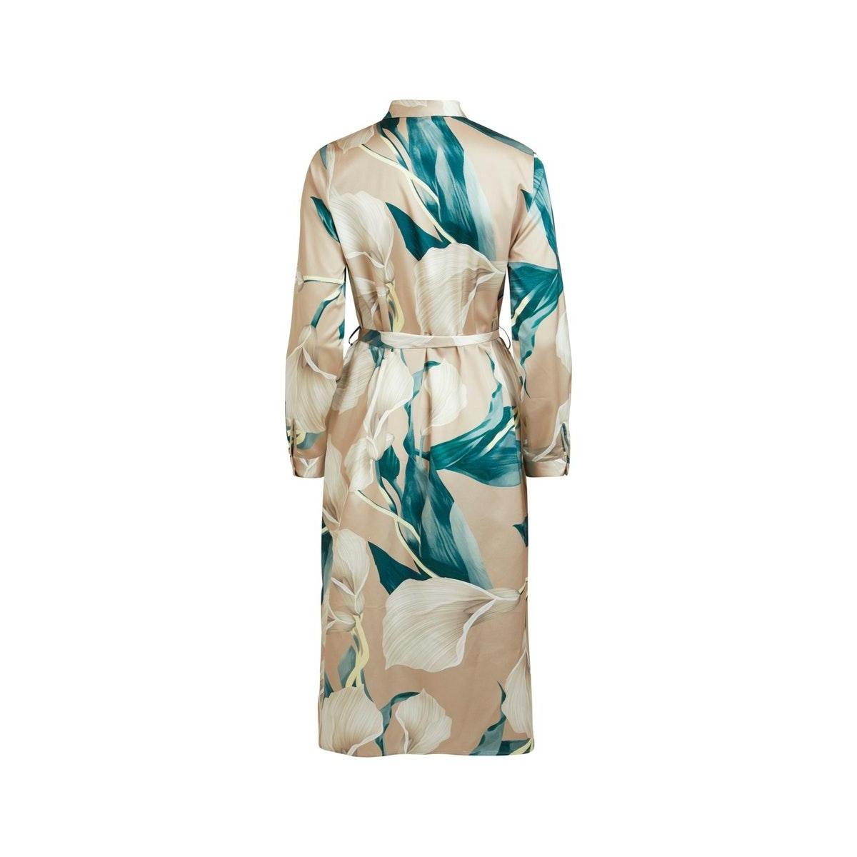 objfania l/s long shirt dress a q 23033013 object jurk humus/lily