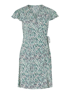 pcmarguerite ss wrap dress 17104705 pieces jurk whitecap gray