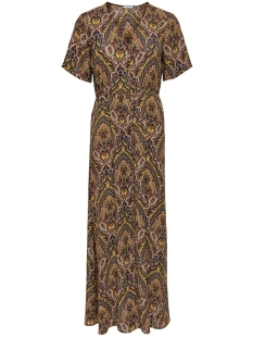 Only Jurk ONLHANNA S/S ANCLE DRESS WVN 15205456 Golden Spice