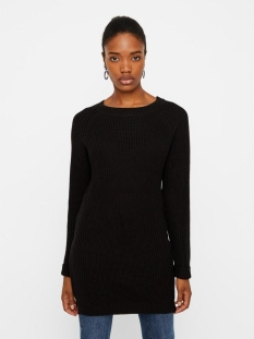 Noisy may Jurk NMSIESTA L/S O-NECK KNIT DRESS BG 27002835 Black