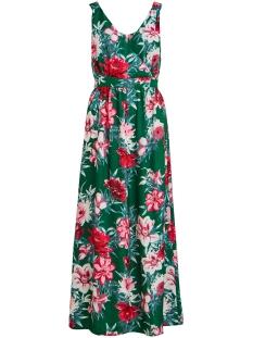 viella s/l ancle dress/dc 14057663 vila jurk ultramarine green/aop flower
