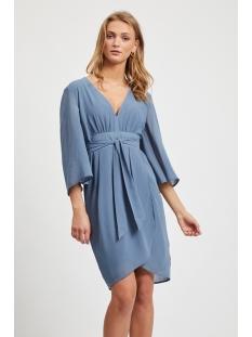 Vila Jurk VIMICADA NEW 3/4 SLEEVE DRESS/L/SU 14057978 China Blue