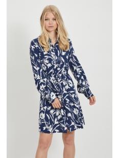 Vila Jurk VIRUMINA L/S SHIRT DRESS /RX 14060256 Navy Blazer/CLOUD DANCER