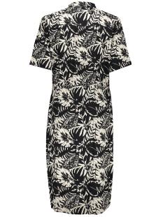 dress bi color with straps ss 07085 20 geisha jurk off-white/ black combi