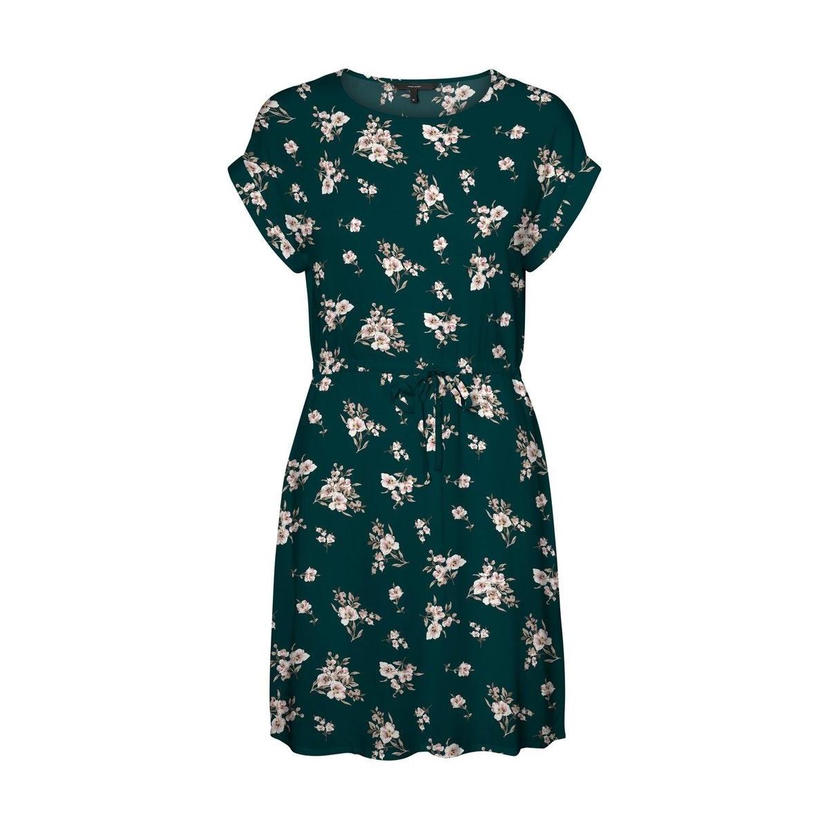 vmsimply easy ss short dress wvn ga 10227827 vero moda jurk ponderosa pine/sandy pond