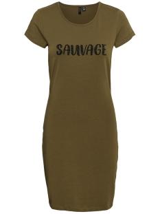 vmjacinta ss short dress stripe aop 10235462 vero moda jurk ivy green/sauvage