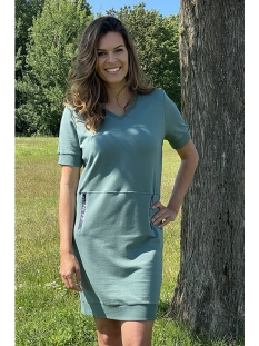 Zoso Jurk JANE SWEAT DRESS WITH TECH 203 ARMY