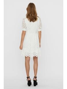 vmtherese 2/4 short wrap dress wvn 10235818 vero moda jurk snow white