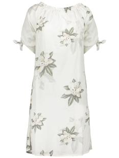 Geisha Jurk DRESS FLOWERPRINT 34 SLEEVES 07001 10 White/Green